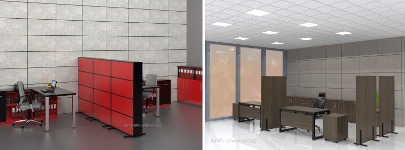 Dodatkowe ścianki biurowe mobilne dzielące pomieszczenia VC84